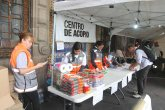 51024178. México, 24 Oct. 2015 (Notimex-Gustavo Duran).- El centro de acopio instalado en el Zócalo capitalino, continúa recibiendo víveres para los afectados por el paso del huracán Patricia. NOTIMEX/FOTO/ GUSTAVO DURAN/GDH/HUM/PATRICIA15