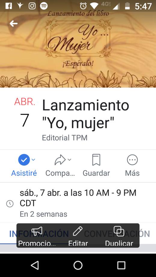 evento lanzamiento